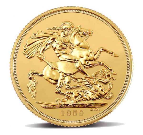 Royal Mint - Sterlina Oro Elisabetta II - Anno 1959