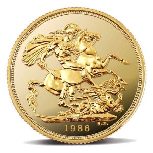 Sterlina-Oro-Proof-Elisabetta-1986