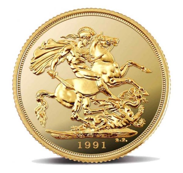 Sterlina-Oro-Proof-Elisabetta-1991