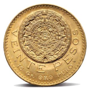 20-pesos-messicani-Calendario-Azteco-retro