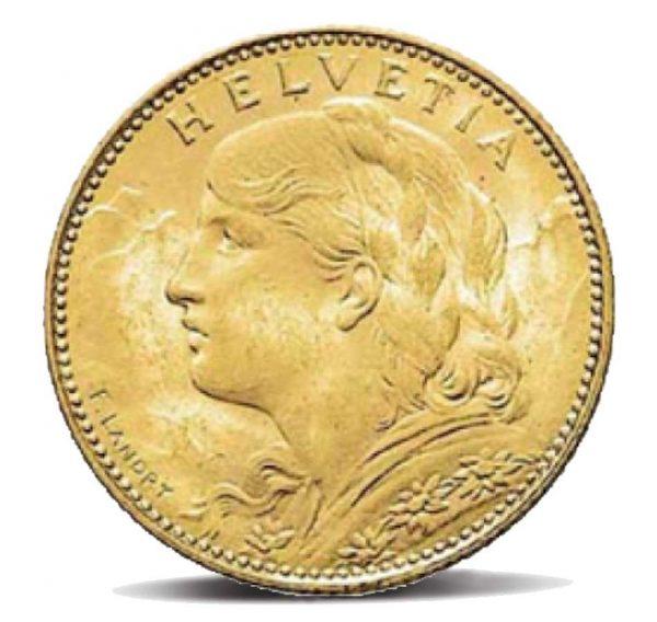 10 franchi svizzero vreneli fronte