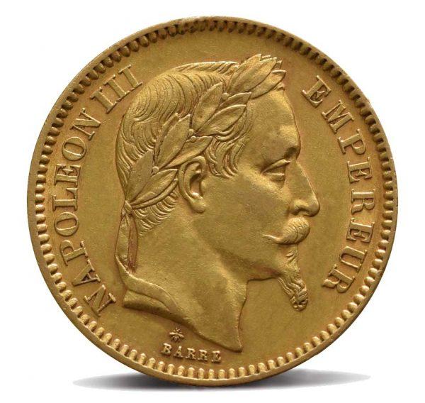 20-franchi-francia-napoleone-III-testa-laureata-fronte